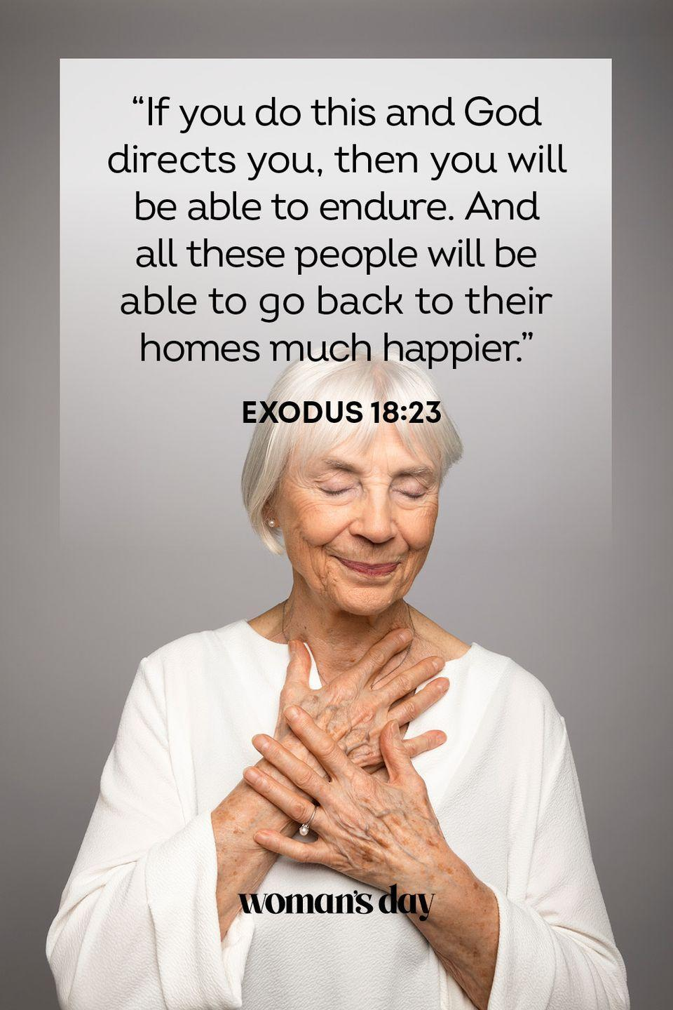 """<p>""""If you do this and God directs you, then you will be able to endure. And all these people will be able to go back to their homes much happier."""" — Exodus 18:23</p><p><strong>The Good News: </strong>None of us are traveling on the road to righteousness alone. God shapes our paths so that we are able to get through any challenges that may lie ahead.</p>"""