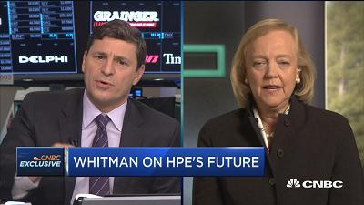 Meg Whitman, Hewlett Packard Enterprise CEO, talks about her call to split Hewlett Packard into two separate companies and weighs in on quarterly results.