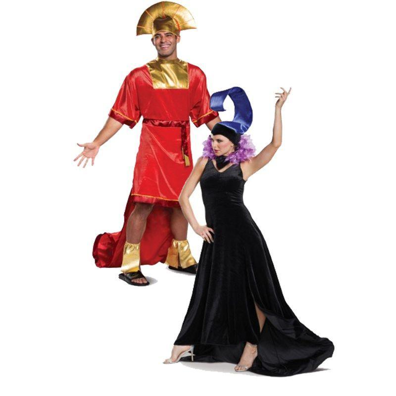 """<p>Just because Kuzco and Yzma are enemies in <em>The Emperor's New Groove</em> doesn't mean they can't show up together at the same party. The dueling duo, who couldn't be more different, make a fierce pair regardless of where they go. </p><p><a class=""""link rapid-noclick-resp"""" href=""""https://go.redirectingat.com?id=74968X1596630&url=https%3A%2F%2Fwww.halloweencostumes.com%2Fdisney-emperors-new-groove-yzma-womens-costume.html&sref=https%3A%2F%2Fwww.womansday.com%2Fstyle%2Fg28691602%2Fdisney-couples-costumes%2F"""" rel=""""nofollow noopener"""" target=""""_blank"""" data-ylk=""""slk:SHOP YZMA COSTUME"""">SHOP YZMA COSTUME</a></p><p><a class=""""link rapid-noclick-resp"""" href=""""https://go.redirectingat.com?id=74968X1596630&url=https%3A%2F%2Fwww.halloweencostumes.com%2Fdisney-emperors-new-groove-kuzco-mens-costume.html&sref=https%3A%2F%2Fwww.womansday.com%2Fstyle%2Fg28691602%2Fdisney-couples-costumes%2F"""" rel=""""nofollow noopener"""" target=""""_blank"""" data-ylk=""""slk:SHOP KUZCO COSTUME"""">SHOP KUZCO COSTUME</a> </p>"""