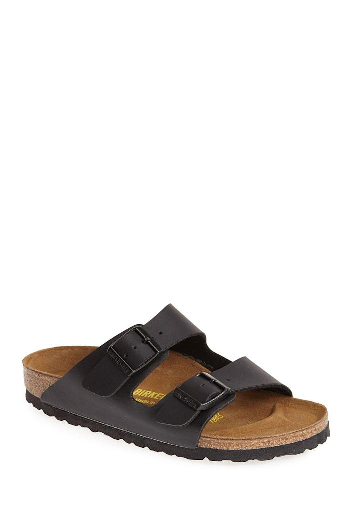 """<p><strong>Birkenstock</strong></p><p>nordstromrack.com</p><p><strong>$99.95</strong></p><p><a href=""""https://go.redirectingat.com?id=74968X1596630&url=https%3A%2F%2Fwww.nordstromrack.com%2Fshop%2Fproduct%2F1722113&sref=https%3A%2F%2Fwww.goodhousekeeping.com%2Fclothing%2Fg30633786%2Fspring-shoes-trends%2F"""" rel=""""nofollow noopener"""" target=""""_blank"""" data-ylk=""""slk:Shop Now"""" class=""""link rapid-noclick-resp"""">Shop Now</a></p><p>If you prefer the laidback, easy style of a functional sandal (yes, that's a thing!), it's time to invest in a pair of Birkenstock, a.k.a. the most comfortable sandals in the world. </p>"""