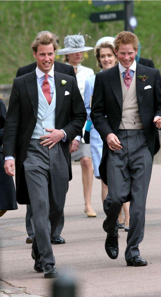 Prince William, Prince Harry and other members of the Royal Family attend the royal wedding of HRH Prince Charles and Mrs. Camilla Parker Bowles.
