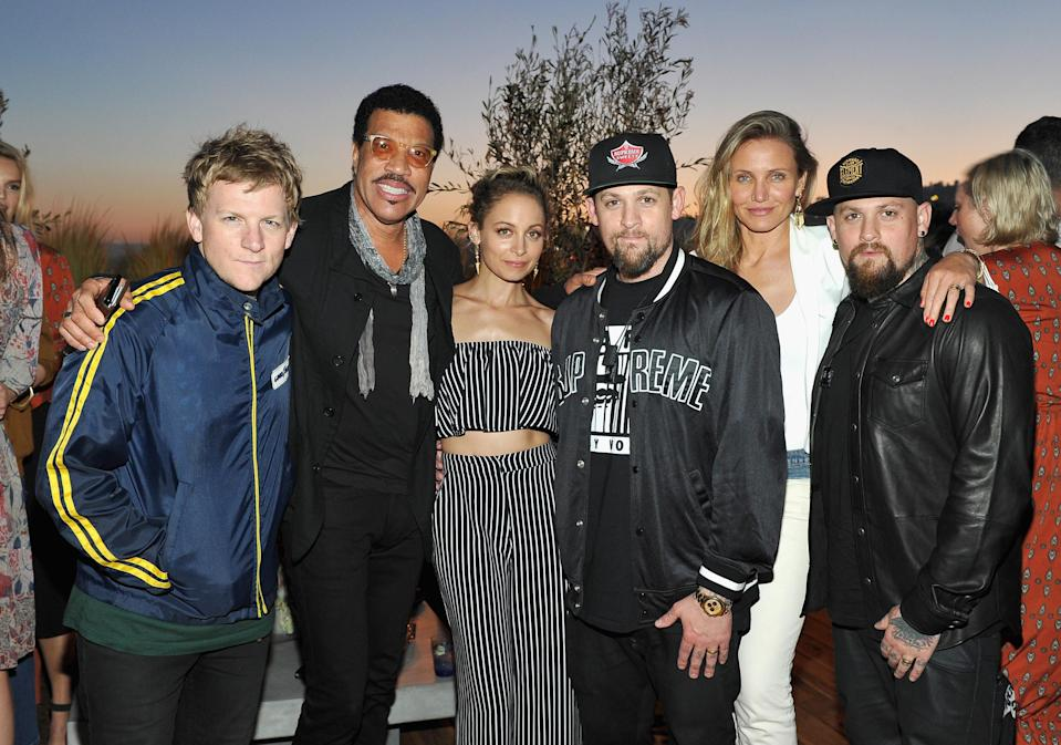 <p>Diaz and Madden met up with extended family members Josh Madden, Lionel Richie, Nicole Richie, and Joel Madden at a House of Harlow 1960 x Revolve event in 2016. </p>