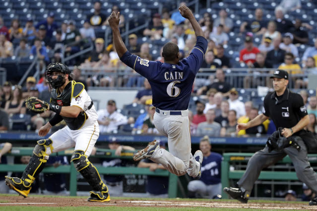 The Milwaukee Brewers' Lorenzo Cain is having yet another successful year. (AP Photo)