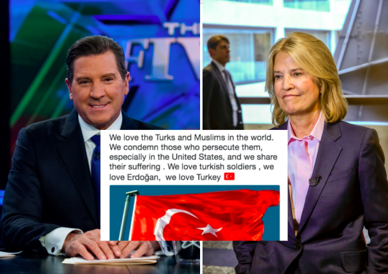 Eric Bolling and Greta Van Susteren's Twitter accounts were temporarily hacked on Tuesday. (Getty Images/Twitter)