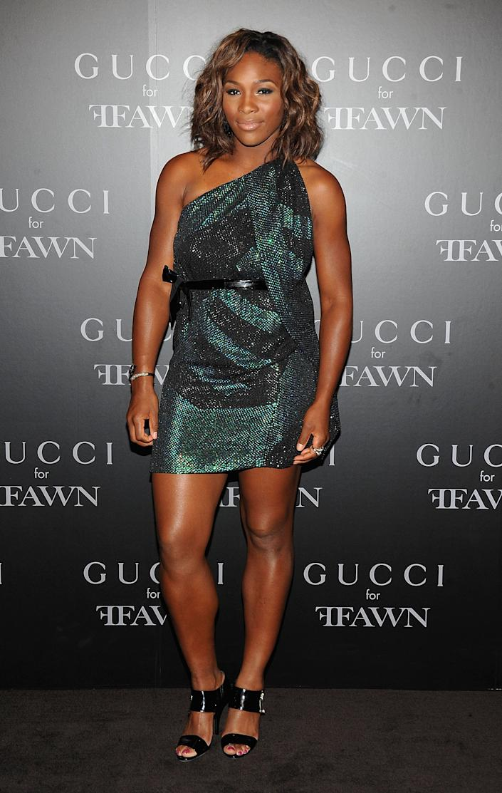 NEW YORK - SEPTEMBER 16: Professional tennis player Serena Williams attend a cocktail party benefitting FFAWN at Gucci Fifth Avenue on September 16, 2009 in New York City. (Photo by Jamie McCarthy/WireImage)