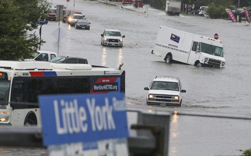 Flooded streets in Houston, Texas: Getty Images