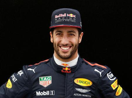 Formula One - F1 - Australian Grand Prix - Melbourne, Australia - 23/03/2017 Red Bull racing driver Daniel Ricciardo of Australia poses during the driver portrait session at the first race of the year. REUTERS/Brandon Malone