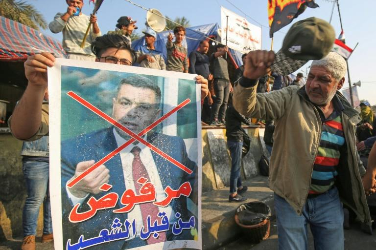 """""""Refused by the people"""": Iraqi protesters have rejected Basra governor Assaad al-Aidani as candidate for prime minister (AFP Photo/AHMAD AL-RUBAYE)"""