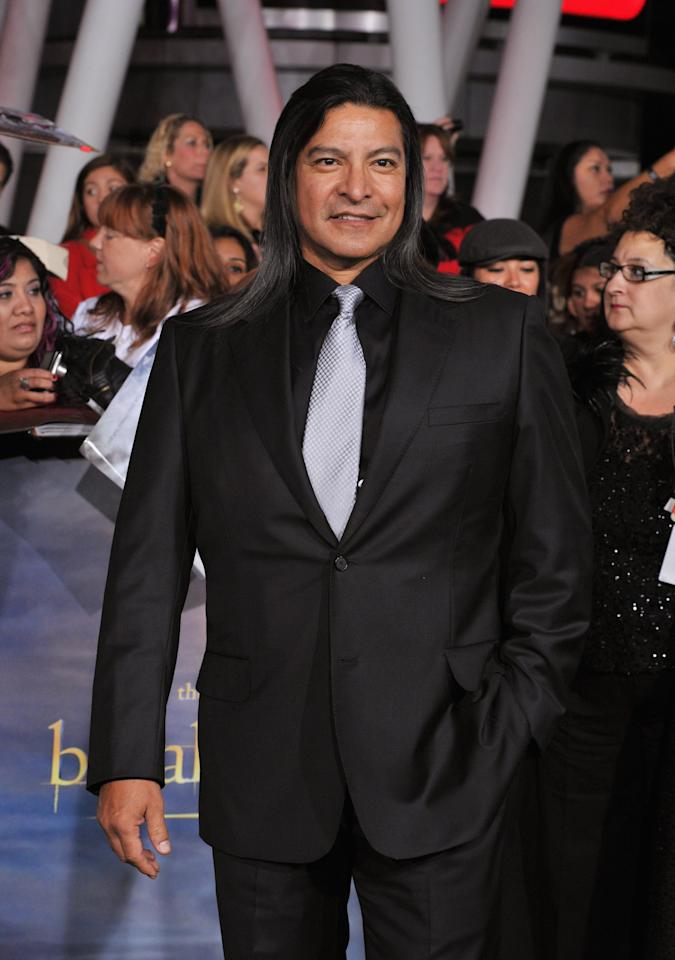 "Gil Birmingham arrives at ""The Twilight Saga: Breaking Dawn - Part 2"" Los Angeles premiere at the Nokia Theatre L.A. Live on November 12, 2012 in Los Angeles, California.  (Photo by Lester Cohen/WireImage)"