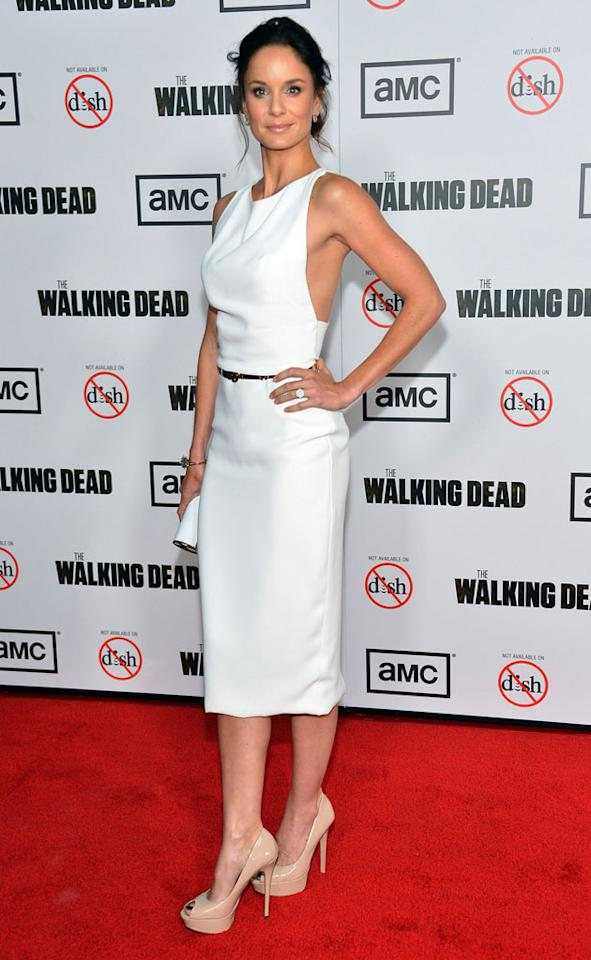 "Sarah Wayne Callies attends AMC's ""The Walking Dead"" Season 3 Premiere held at Universal CityWalk on October 4, 2012 in Universal City, California."