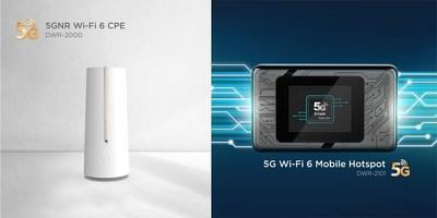 At CES 2021, D-Link unveils their new 5GNR Wi-Fi 6 CPE device (DWR-2000) as well as announces the availability of a new 5G Wi-Fi 6 Mobile Hotspot (DWR-2101)