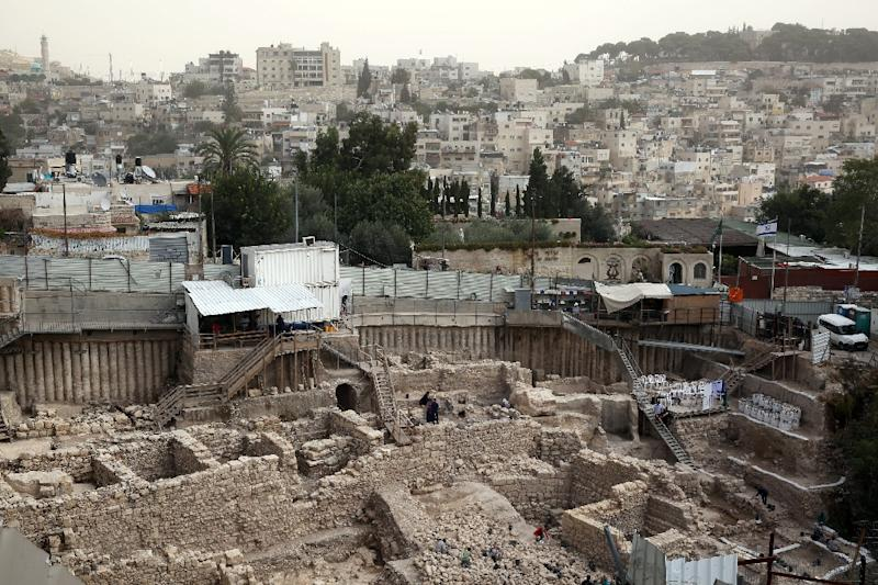 An archaeological site near the City of David adjacent to Jerusalem's Old City walls on November 3, 2015 (AFP Photo/Gali Tibbon)