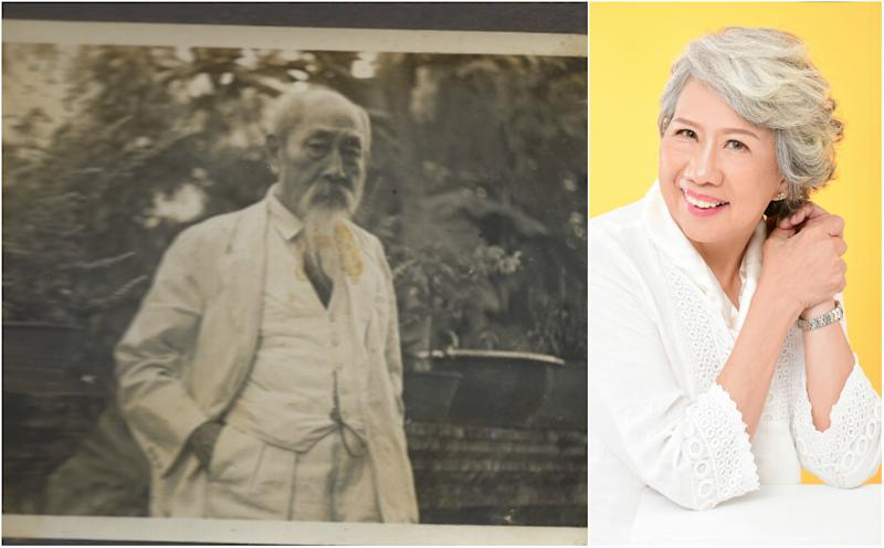 """The late Singaporean historical philanthropist Dr Lim Boon Keng and his great-grandaughter, Stella Kon, who wrote """"Emily of Emerald Hill"""". She wrote a musical about his life called """"Bring the Light – Lim Boon Keng: The Musical"""". (Photos: Courtesy of family of Dr Lim Kok Ann, Musical Theatre Limited)"""
