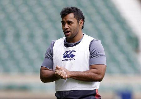 England's Billy Vunipola during training