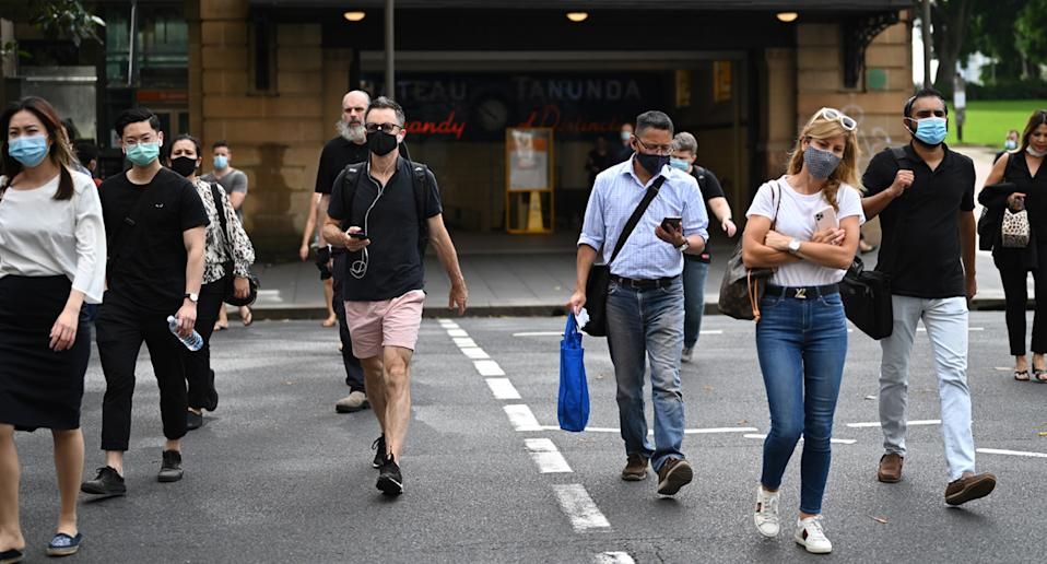 The public has been told to avoid large gatherings on Australia Day. Source: AAP