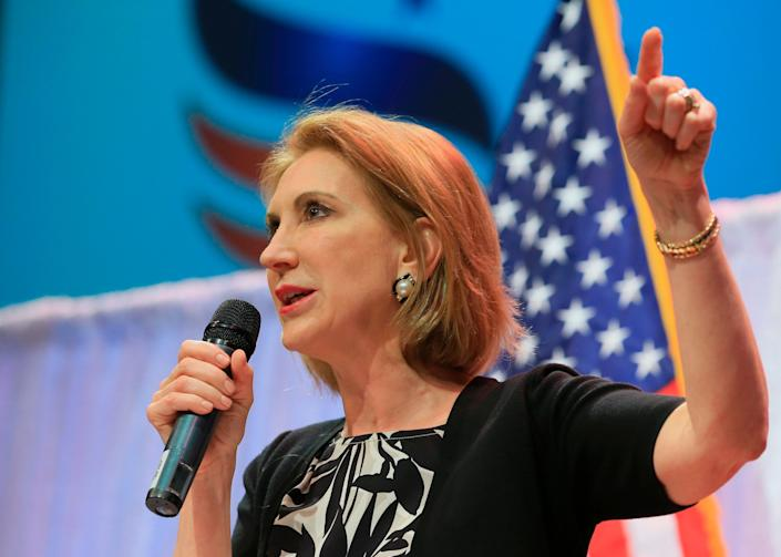 Fiorina <a href=&quot;http://www.huffingtonpost.com/entry/carly-fiorina-suspends-campaign_us_563c326ae4b0411d30708c05&quot;>suspended her campaign</a> Feb. 10, 2016.