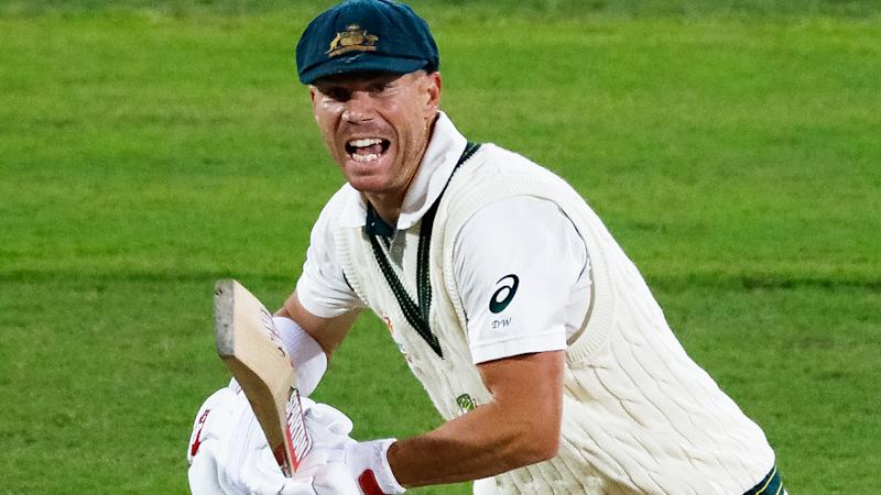 Debate has broken out as to whether David Warner should have retired early to preserve a Don Bradman record, or go for broke and try for Brian Lara's all-time knock of 400*. (Photo by Daniel Kalisz - CA/Cricket Australia via Getty Images)