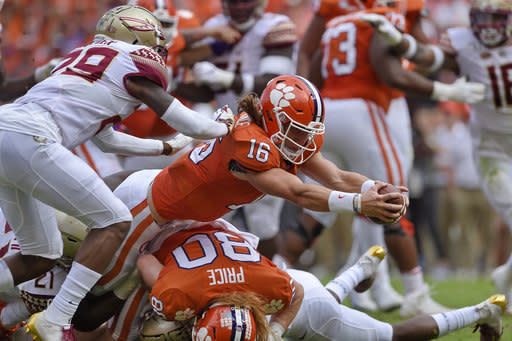 No. 1 Clemson, QB Lawrence prep for another championship run