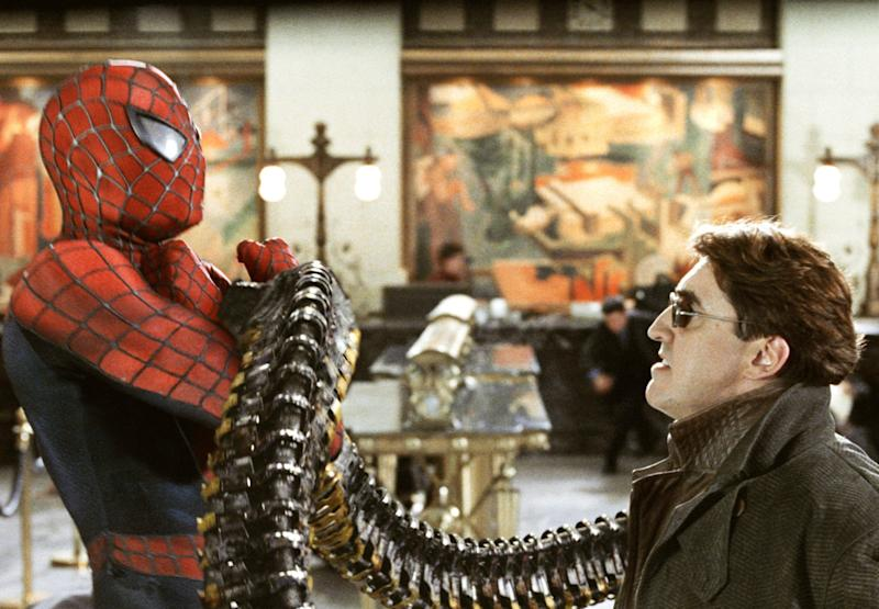 """Tobey Maguire and Alfred Molina in """"Spider-Man 2."""""""