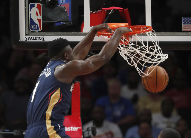 The rookie scored 16 points, including a great first half dunk. (AP Photo/John Bazemore)