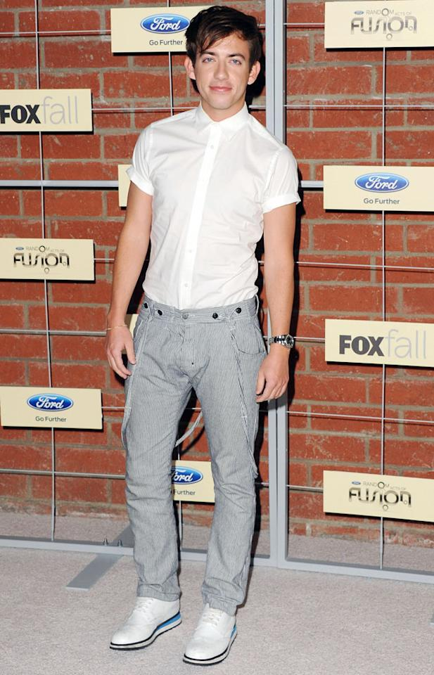 "Kevin McHale (""Glee"") attends Fox's Fall 2012 Eco-Casino party at The Bookbindery on September 10, 2012 in Culver City, California."