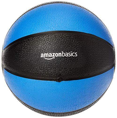 """<p><strong>AmazonBasics</strong></p><p>amazon.com</p><p><a href=""""https://www.amazon.com/dp/B00S0QDD8C?tag=syn-yahoo-20&ascsubtag=%5Bartid%7C2140.g.33524030%5Bsrc%7Cyahoo-us"""" rel=""""nofollow noopener"""" target=""""_blank"""" data-ylk=""""slk:Shop Now"""" class=""""link rapid-noclick-resp"""">Shop Now</a></p><p>Medicine balls are great for adding a dose of challenge to your workouts, and this ball from AmazonBasics is a top-rated, affordable option. It's made with sturdy rubber which allows it to easily bounce off of floors without damaging them, while offering you a more secure grip.</p>"""