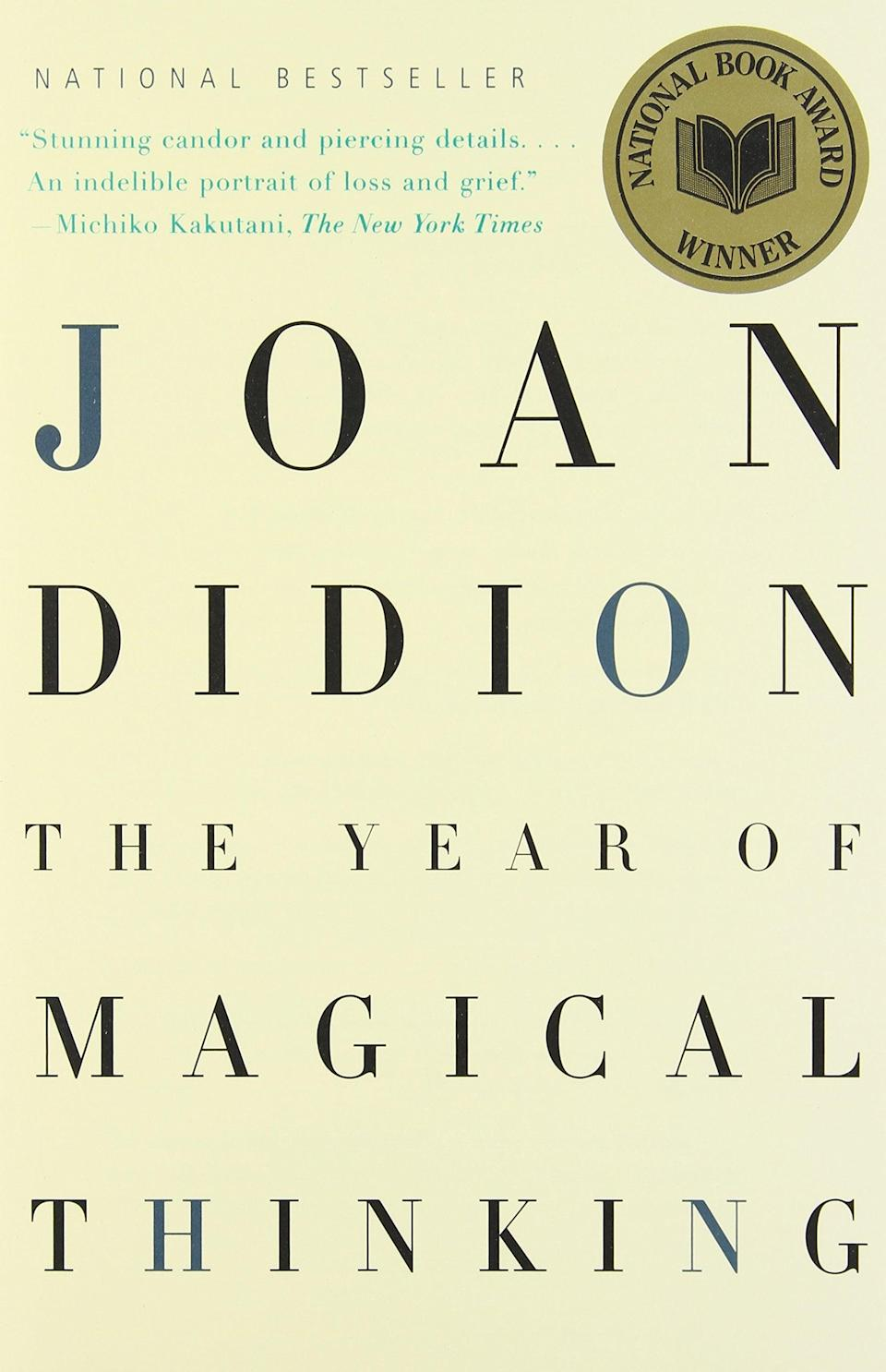 "<p><a href=""https://www.popsugar.com/buy?url=https%3A%2F%2Fwww.amazon.com%2FYear-Magical-Thinking-Joan-Didion%2Fdp%2F140004314X%2Fref%3Dtmm_hrd_swatch_0%3F_encoding%3DUTF8%26qid%3D1488930764%26sr%3D1-1&p_name=%3Cb%3EThe%20Year%20of%20Magical%20Thinking%3C%2Fb%3E%20by%20Joan%20Didion&retailer=amazon.com&evar1=tres%3Auk&evar9=43250262&evar98=https%3A%2F%2Fwww.popsugar.com%2Flove%2Fphoto-gallery%2F43250262%2Fimage%2F43252247%2FYear-Magical-Thinking-Joan-Didion&list1=books%2Cwomen%2Creading%2Cinternational%20womens%20day%2Cwomens%20history%20month&prop13=api&pdata=1"" class=""link rapid-noclick-resp"" rel=""nofollow noopener"" target=""_blank"" data-ylk=""slk:The Year of Magical Thinking by Joan Didion""><b>The Year of Magical Thinking</b> by Joan Didion</a> </p>"