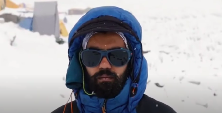 Harshvardhan Joshi, a 25-year-old mountaineer from Vasai in Maharashtra, conquered Mount Everest, just days after recovering from Covid-19. His mission called SangHarsh was eco-friendly and sustainable — that he claims is the first in the world  (Sujatha Iyer YouTube/Screengrab)