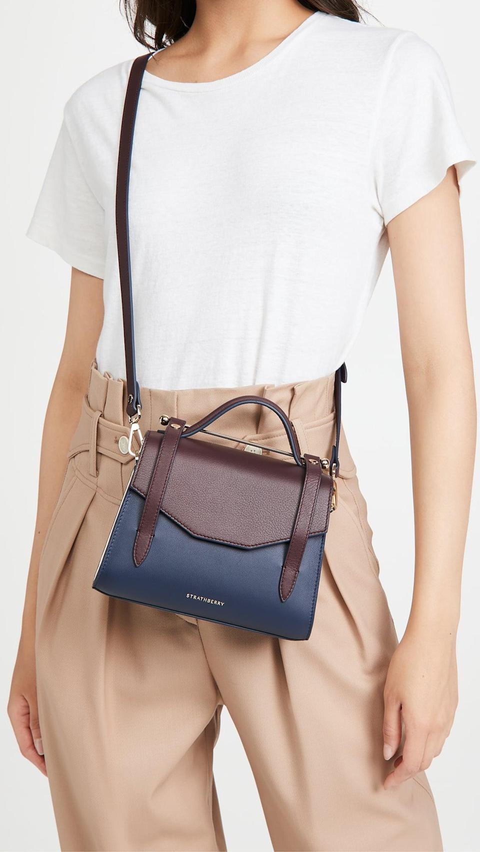 <p>The mix of colors on this <span>Strathberry Allegro Mini Bag</span> ($670) is so fun.</p>
