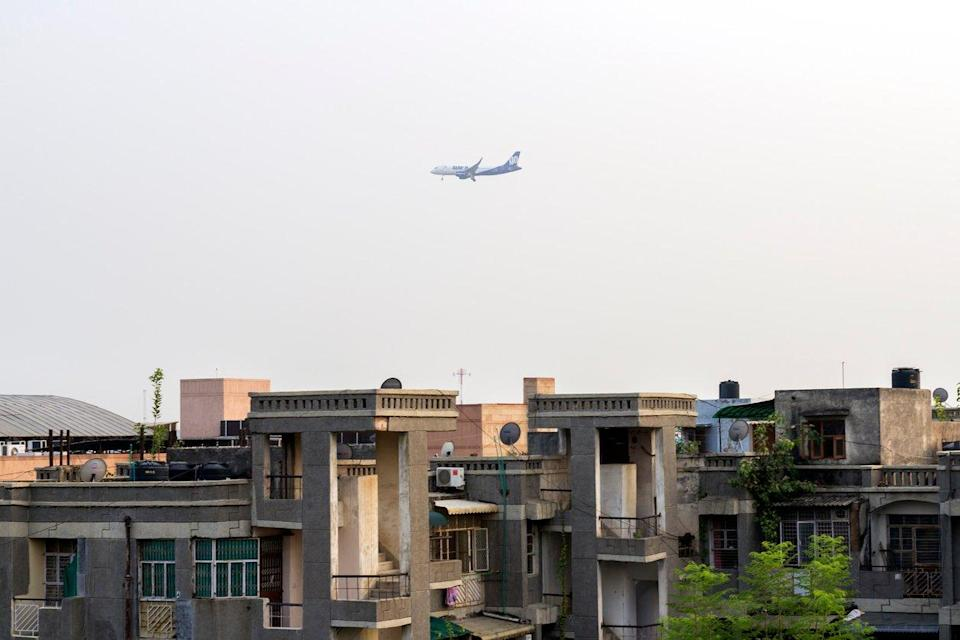 File: An aircraft belonging to GoAir Airlines flies over a residential area in south-west Delhi: Getty Images