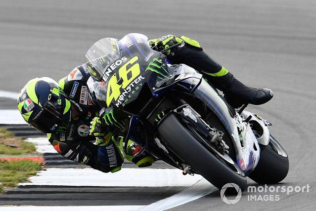 "Valentino Rossi, Yamaha Factory Racing <span class=""copyright"">Gold and Goose / LAT Images</span>"