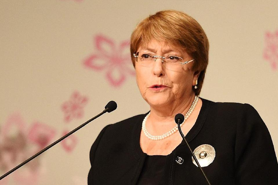 UN human rights chief Michelle Bachelet will travel to Venezuela next week for talks with the government and the opposition (AFP Photo/CHARLY TRIBALLEAU)