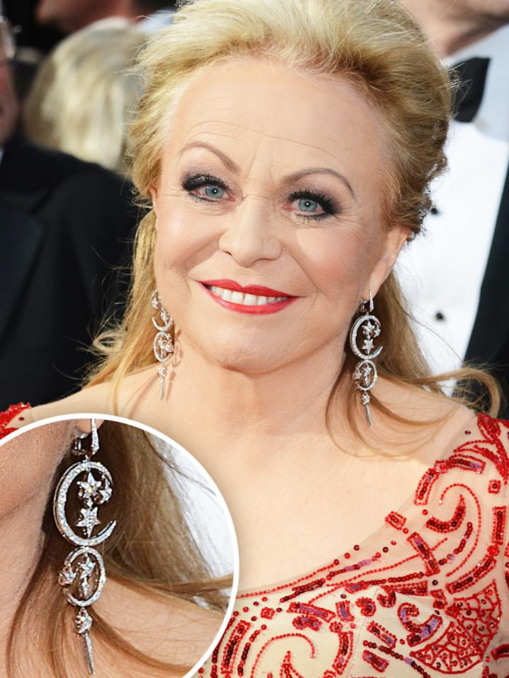 Jacki Weaver arrives at the Oscars in Hollywood, California, on February 24, 2013.