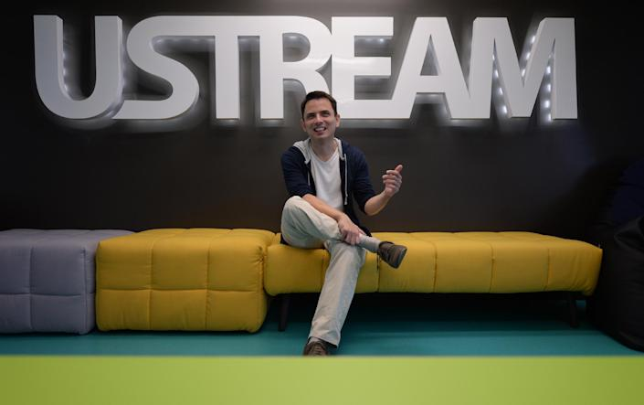 Hungarian Gyula Feher, co-founder of start-up company Ustream, at its headquarters in Budapest on August 26, 2014 (AFP Photo/Attila Kisbendek)