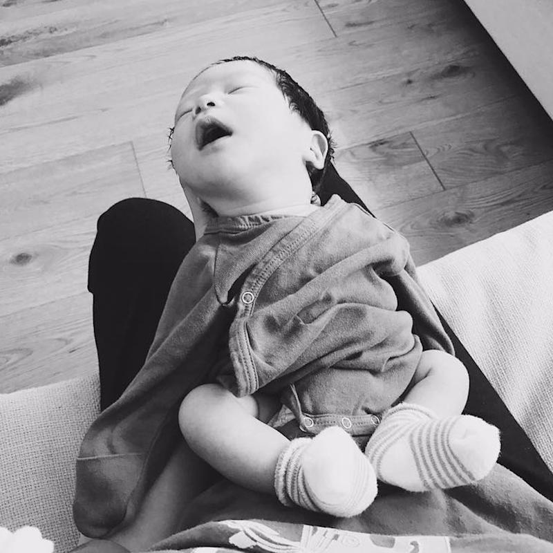 The First Photo of Steven Yeun's Son Will Melt Your Heart in Record Time