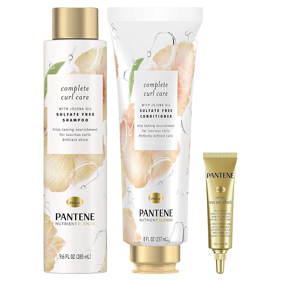 "<h2>20% Off Select Pantene Sets</h2><br><br><strong>Pantene</strong> Shampoo and Conditioner Plus Rescue Shot Treatment, $, available at <a href=""https://amzn.to/2Iv0Rsy"" rel=""nofollow noopener"" target=""_blank"" data-ylk=""slk:Amazon"" class=""link rapid-noclick-resp"">Amazon</a>"