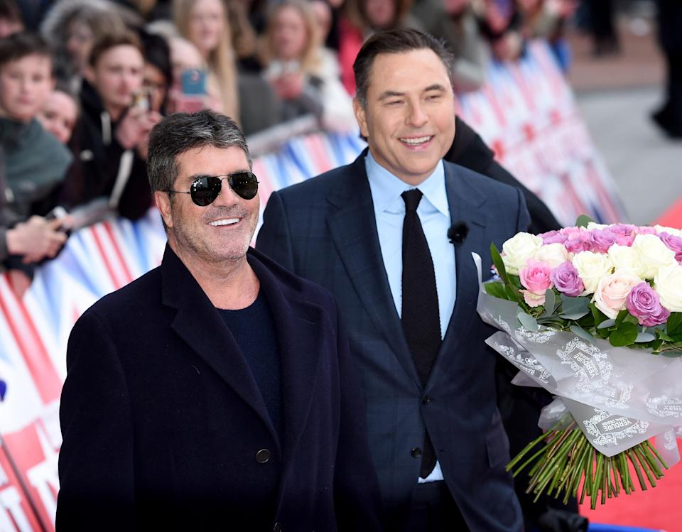 Could we see David Walliams serenading Simon Cowell on upcoming competition series Celebrity X Factor? (Joe Giddens/PA Images via Getty Images)
