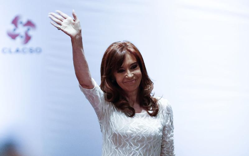 """Former Argentine president Cristina Kirchner has been charged with """"illegal association and money laundering"""" in connection with real estate dealings (AFP Photo/Miguel SCHINCARIOL)"""