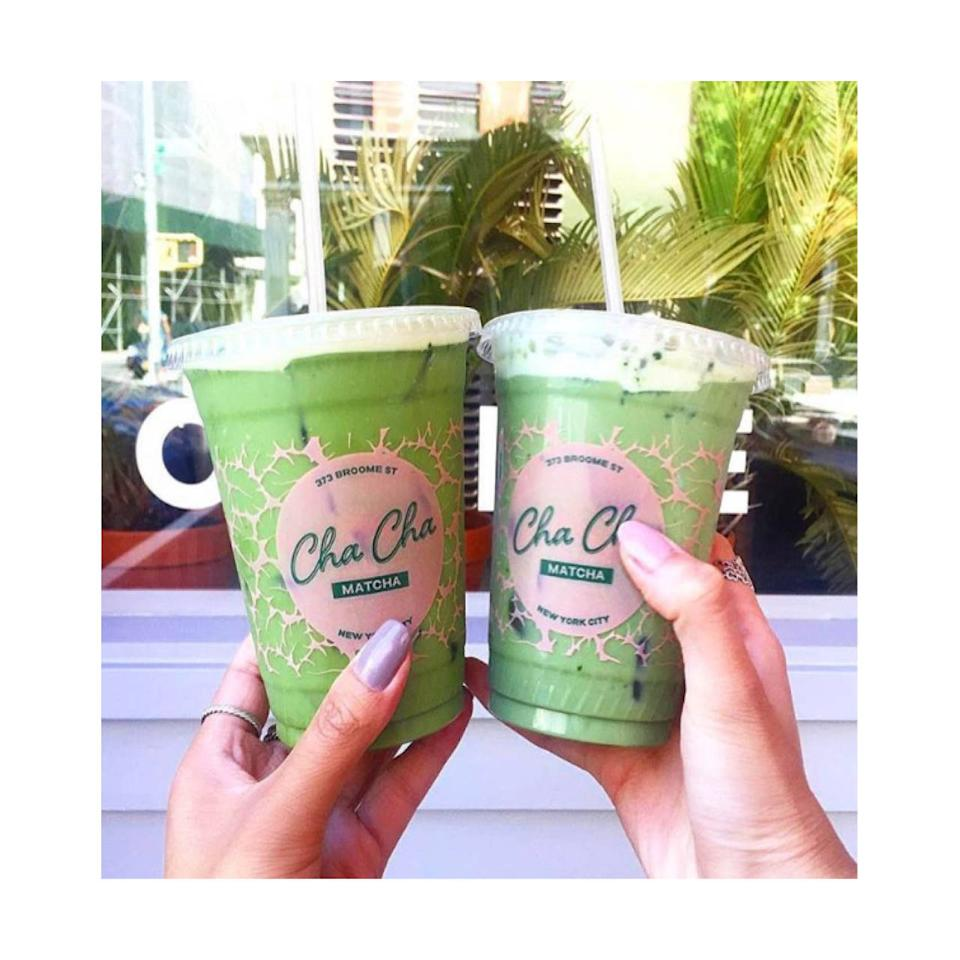 """<p>The Drink: Cha Cha's Matcha</p><p>The beverage of the moment — matcha gives you a mellower jolt of caffeine than coffee, plus all of green tea's antioxidant properties — dressed up in a hip and highly 'grammable pink and green color scheme (it worked for the Beverly Hills Hotel). 373 Broome St.; <a href=""""http://chachamatcha.com/"""">chachamatcha.com</a>.</p>"""