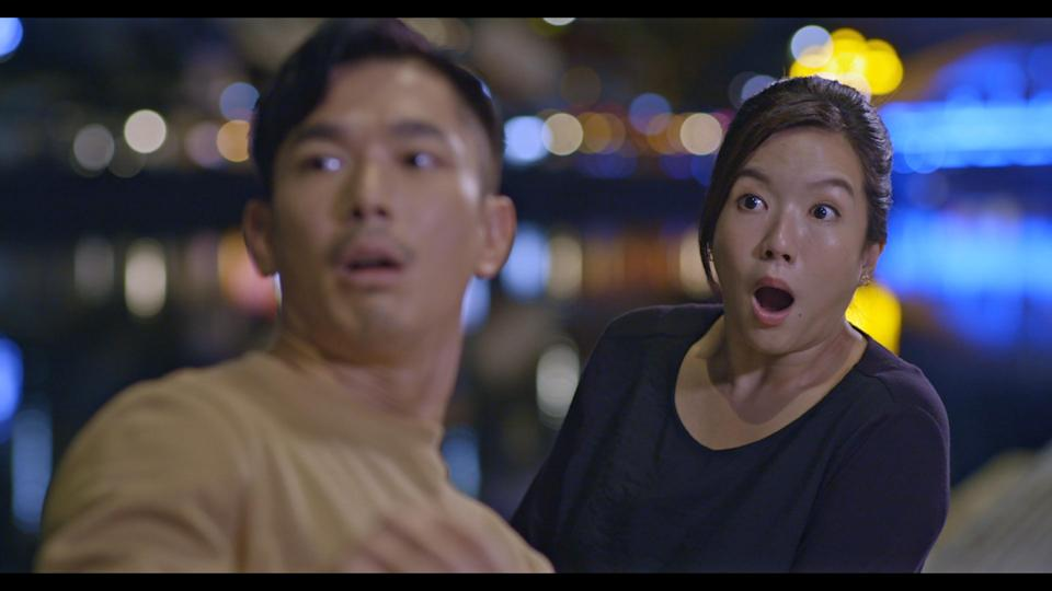 Elvin Ng and Rui En in Channel 8 drama The Heartland Hero. (Photo: Mediacorp)