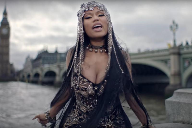 Backlash: Nicki Minaj on Westminster Bridge in No Frauds