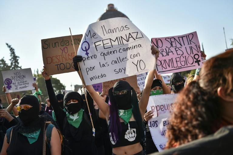 Mexican protesters demanded justice for victims of femicides on the International Day for the Elimination of Violence against Women