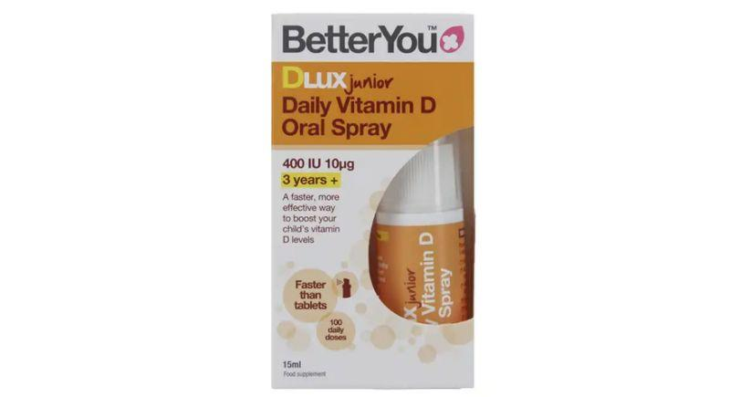 BetterYou Dlux Junior Vitamina D Diária Oral em Spray - 15ml | £6.65 (R$ 46.50) na Holland & Barrett