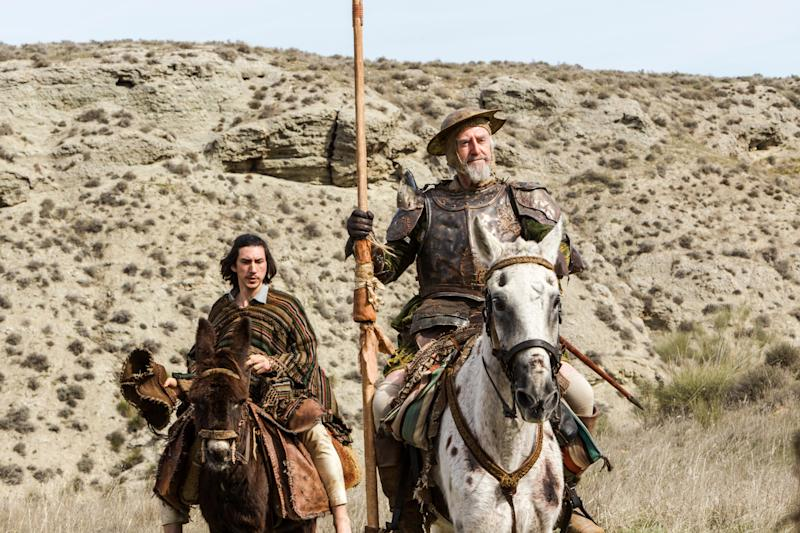"""Adam Driver and Jonathan Pryce in Terry Gilliam's long-delayed """"The Man Who Killed Don Quixote"""" (Photo: Diego Lopez Calvin/Courtesy of Screen Media)"""