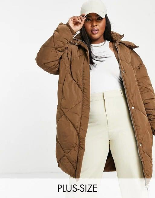 """<br><br><strong>Sixth June Plus</strong> Oversized quilted puffer jacket, $, available at <a href=""""https://www.asos.com/sixth-june-plus/sixth-june-plus-oversized-quilted-puffer-jacket/prd/20063001?"""" rel=""""nofollow noopener"""" target=""""_blank"""" data-ylk=""""slk:ASOS"""" class=""""link rapid-noclick-resp"""">ASOS</a>"""