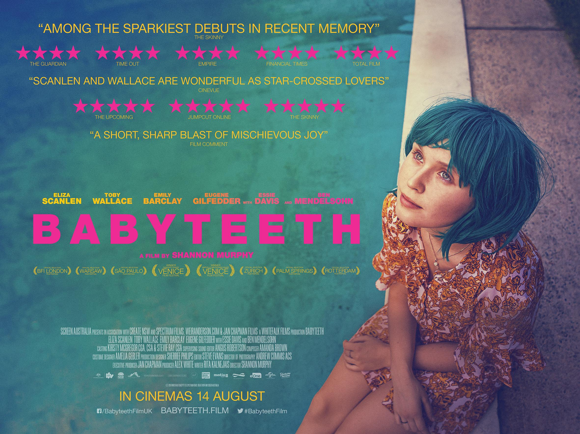 The UK poster for Babyteeth. (Picturehouse Entertainment)