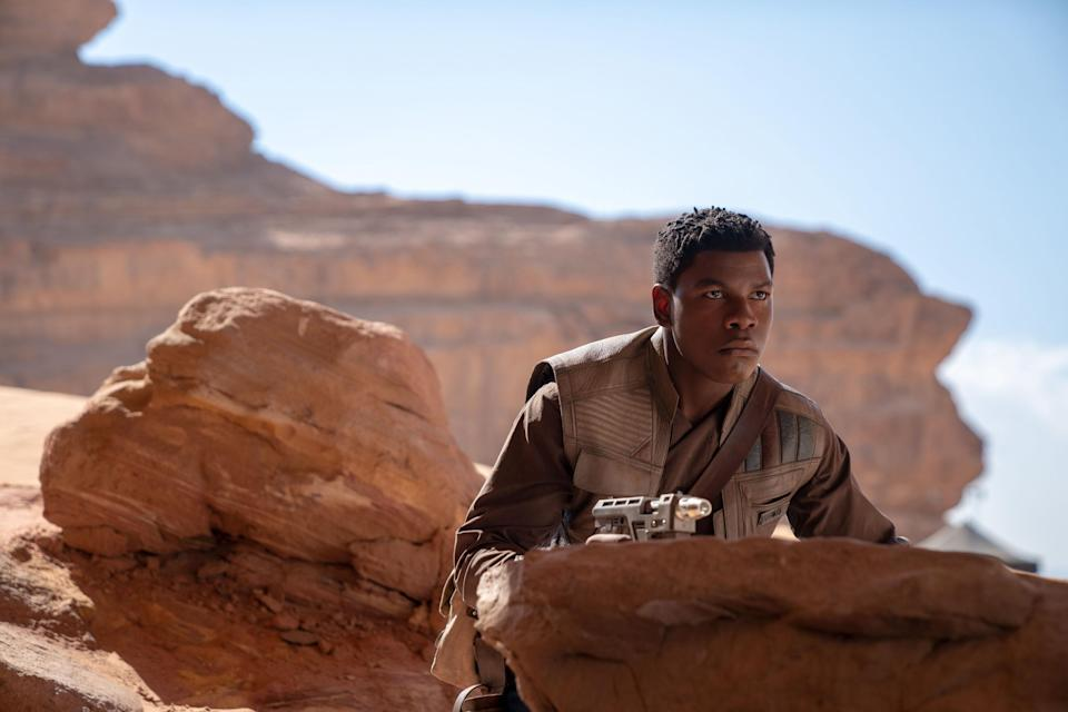 """John Boyega in 'Star Wars: The Rise of Skywalker.' The actor has said that he's """"moved on"""" from the franchise. (Photo: ©Walt Disney Co./Courtesy Everett Collection)"""