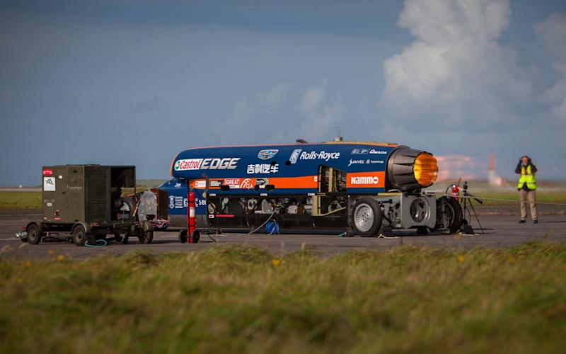 The Bloodhound car is designed to breach the 1,000mph mark - PA
