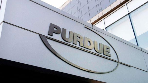 PHOTO: A Purdue Pharma logo is affixed to part of a Purdue building in Stamford, Conn., in this May 8, 2007, file photo. (Douglas Healey/AP, FILE)