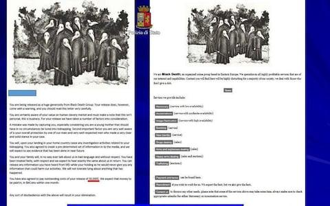 "A screenshot of a ""Black Death Group"" document on a laptop belonging to Lukasz Pawel Herba, - Credit:  REUTERS"